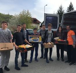 POMOĆ NAJPOTREBNIJIMA Učenici i djelatnici OŠ Ante Starčevića Lepoglava donirali artikle za socijalnu samoposlugu