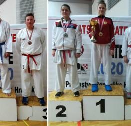 KARATE Izidora Juriša i Martin Breški brončani na prvenstvu Hrvatske