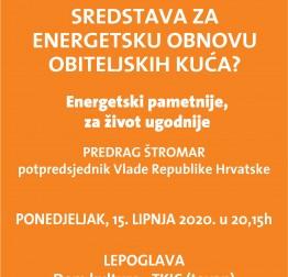 Najava: Energetska obnova obiteljskih kuća