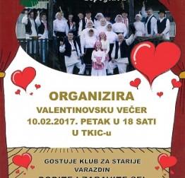 U petak  10. veljače Valentinovska večer uz KUD Lepoglavski pušlek u Domu kulture