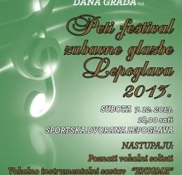 Najava Festivala zabavne glazbe – Lepoglava 2013.