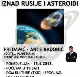 Predavanje - Eksplozija superbolida iznad Rusije i asteroidi